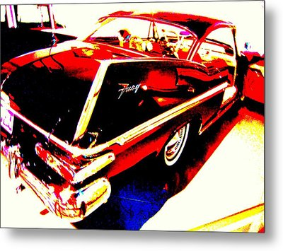 Metal Print featuring the photograph Fin Of Fury In A Plymouth Fashion by Don Struke
