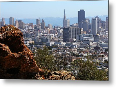 Financial District From Corona Heights Metal Print by Robert Woodward