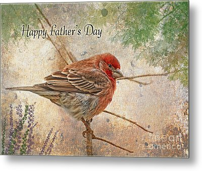 Finch Greeting Card Father's Day Metal Print