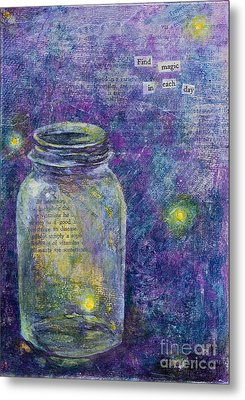 Metal Print featuring the mixed media Find Magic by Melissa Sherbon