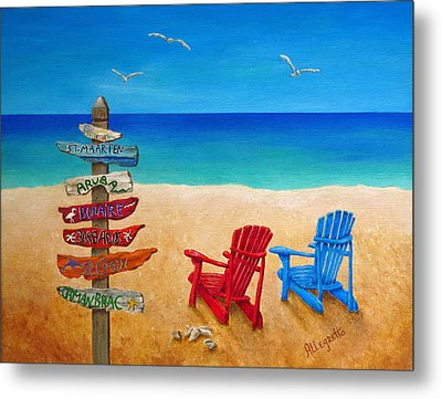 Finding Paradise Metal Print by Pamela Allegretto