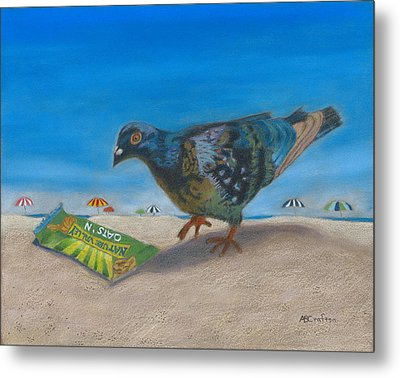 Metal Print featuring the painting Finders Keepers by Arlene Crafton