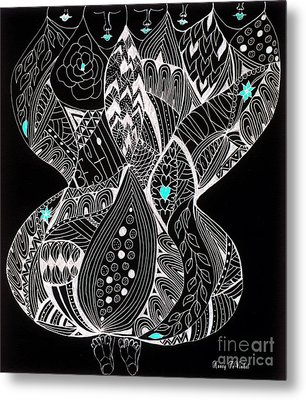 Finding My Soul Metal Print by Nancy TeWinkel Lauren