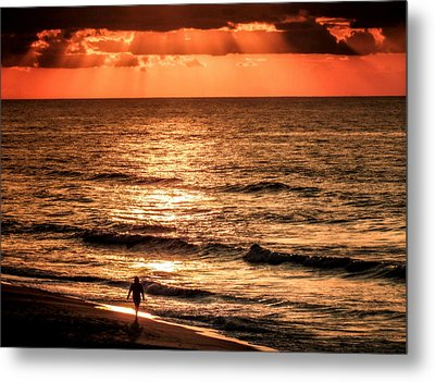 Finding Peace On Earth Metal Print by Karen Wiles