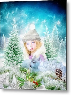 Finding Santa Metal Print by Mo T