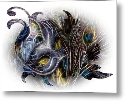 Fine Feathered Fantasy Metal Print by Cindy Nunn