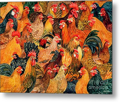 Fine Fowl Metal Print by Ditz