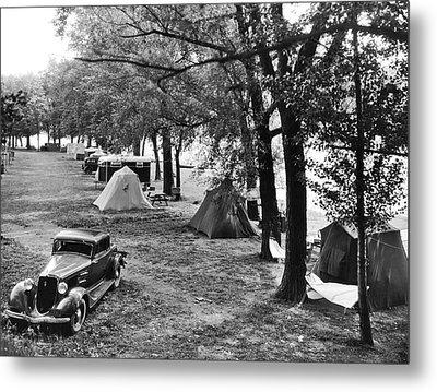 Finger Lakes Camping Metal Print