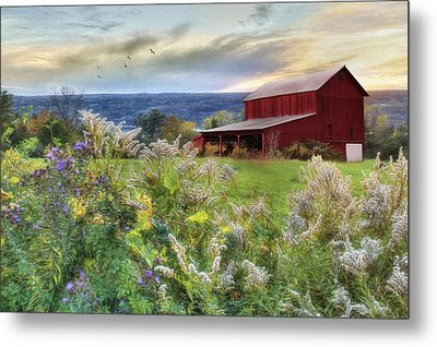 Finger Lakes Farm Metal Print by Lori Deiter