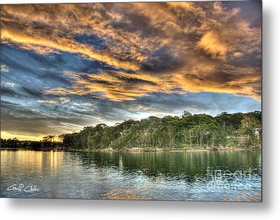 Fingers Of Flame.  Sunset Metal Print by Geoff Childs