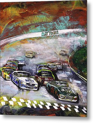 Finish Line Metal Print