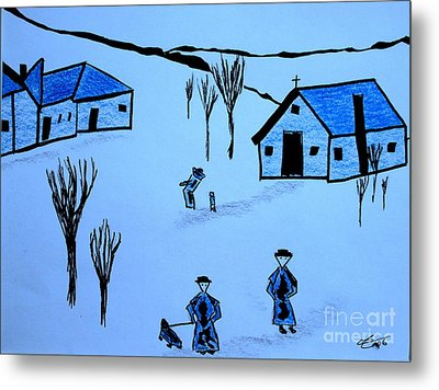 Metal Print featuring the drawing Finland by Bill OConnor