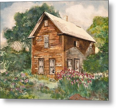 Metal Print featuring the painting Finlayson Old House by Susan Crossman Buscho