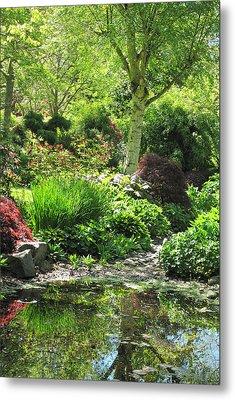 Finnerty Gardens Pond Metal Print by Marilyn Wilson