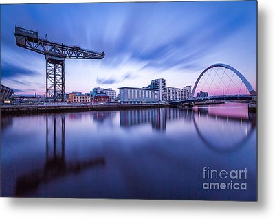 Finnieston Crane And Glasgow Arc Metal Print by John Farnan