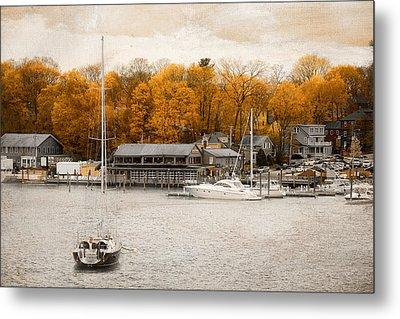 Finn's Harborside East Greenwich Rhode Island Metal Print by Lourry Legarde