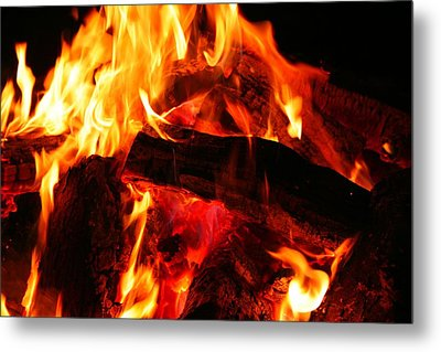 Metal Print featuring the photograph Fire-2 by Denise Moore