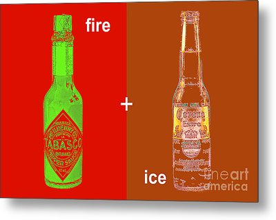 Fire And Ice 20130405 Metal Print by Wingsdomain Art and Photography