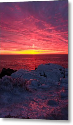 Fire And Ice Metal Print by Benjamin Williamson