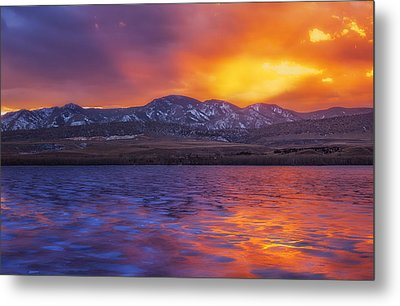 Fire And Ice Metal Print by Darren  White