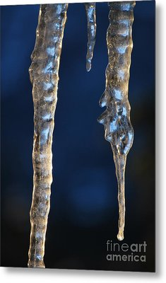 Fire And Ice Metal Print by Kenna Hillman