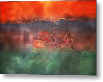 Fire And Ice Misty Morning Metal Print by Betsy Knapp