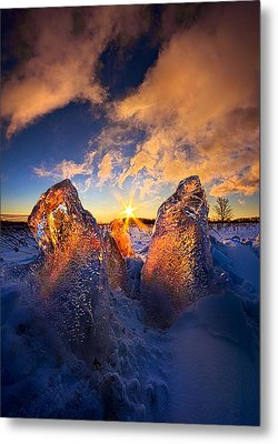 Fire And Ice Metal Print by Phil Koch