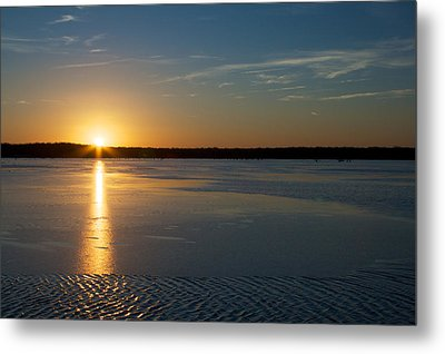 Metal Print featuring the photograph Fire And Ice - Sunset On An Icy Lake by Jane Eleanor Nicholas