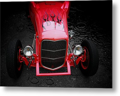 Classic Car Metal Print featuring the photograph Fire And Water by Aaron Berg