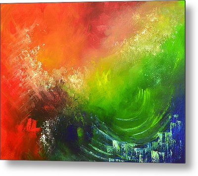 Fire And Water Metal Print by Christopher Vidal