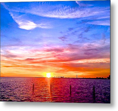 Metal Print featuring the photograph Fire And Water by Dee Dee  Whittle