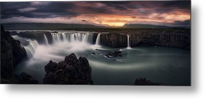 Fire And Water Metal Print by Stefan Mitterwallner