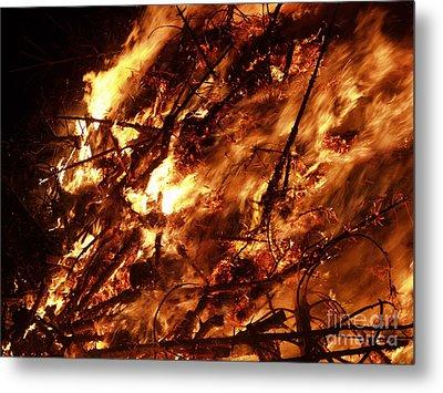Fire Blaze Metal Print