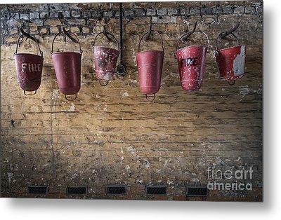 Fire Buckets Metal Print by Svetlana Sewell