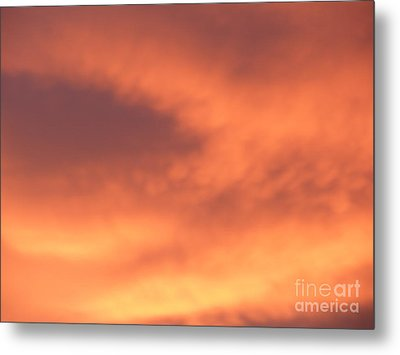 Fire Clouds Metal Print by Joseph Baril