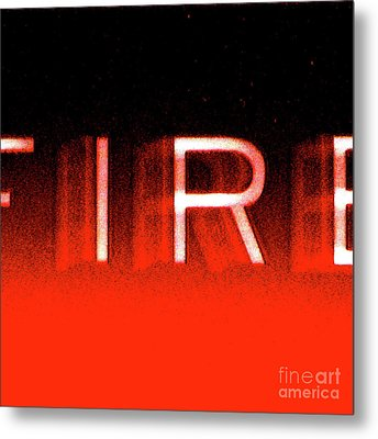 Fire Metal Print by CML Brown