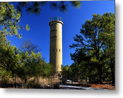 Metal Print featuring the photograph Fct7 Fire Control Tower #7 - Observation Tower by Bill Swartwout