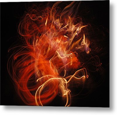 Metal Print featuring the photograph Fire Creature  by Kjirsten Collier