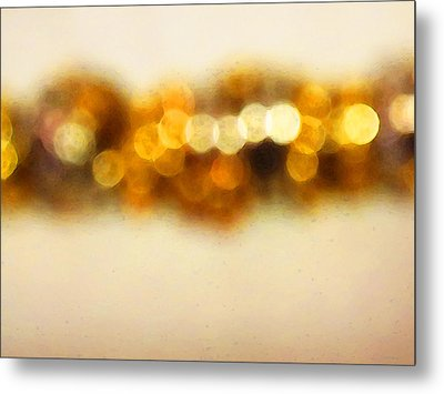 Fire Dance - Warm Sparkling Abstract Art Metal Print by Sharon Cummings