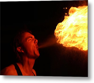 Fire Demon Metal Print
