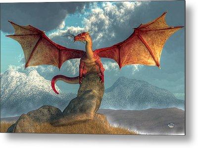 Fire Dragon Metal Print