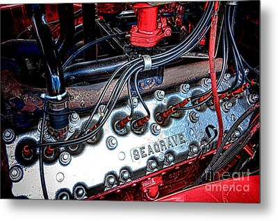 Fire Engine Engine Metal Print by Olivier Le Queinec