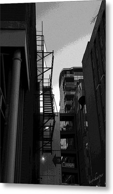 Metal Print featuring the photograph Fire Escape by Terri Harper