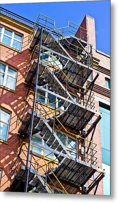 Fire Escape Metal Print by Tom Gowanlock