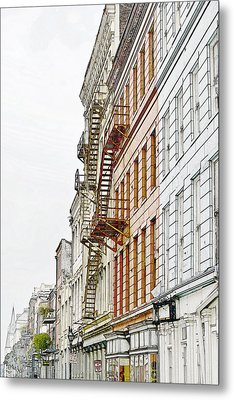 Fire Escapes New Orleans Metal Print
