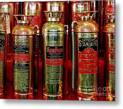 Fire Extinguishers Metal Print