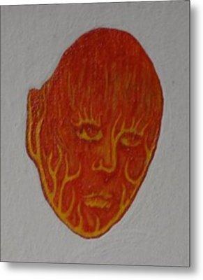 Fire Face Metal Print by Steve  Hester