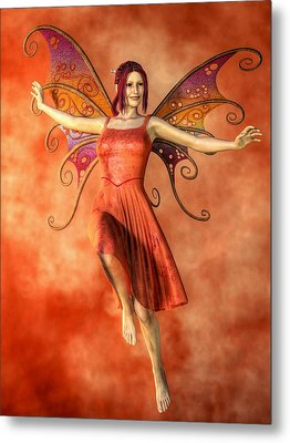 Fire Fairy Metal Print by Kaylee Mason