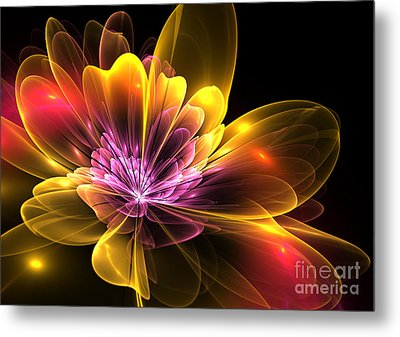 Fire Flower Metal Print by Svetlana Nikolova