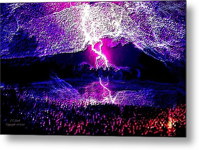 Fire From The Sky Metal Print by Larry Lamb